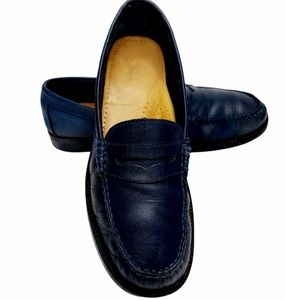 G.H. Bass Weejuns Penny Loafers Size 7.5 Navy Blue